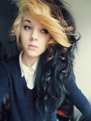 Surprising Black Hair With Blonde Bangs Short Hair Fashions Short Hairstyles Gunalazisus
